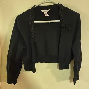 Candies Black Half Sweater